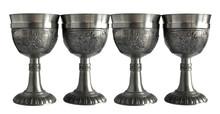Vintage Pewter Wine Goblets