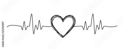 Valokuvatapetti Tangled grungy heart scribble