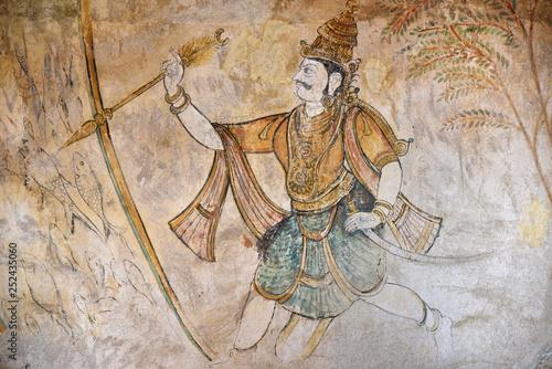 Fotografie, Obraz  Fresque du temple de Thanjavur, Inde du Sud