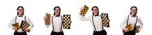 Nerd Chess Player Isolated On ...