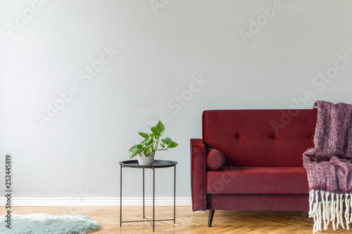 Wondrous Minimalistic And Luxury Grey Home Interior With Burgundy Bralicious Painted Fabric Chair Ideas Braliciousco