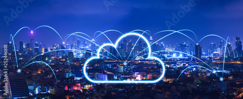 Cloud network and connection city