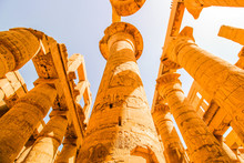 Columns Of Luxor Temple In Lux...