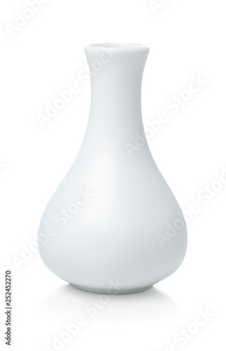 Photo  White vase isolated