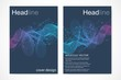 Business templates brochure, magazine, leaflet , flyer, cover, booklet, annual report. Scientific concept for medical, technology, chemistry. Hexagonal molecule structure. Dna, atom, neurons
