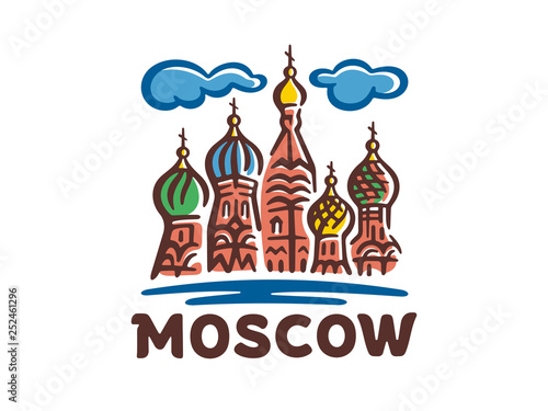 Obraz na plátně Vector logo of the city of Moscow
