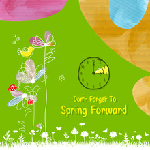 Spring Forward Banner. Dayligh...