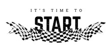 Checkered Flag With The Word S...
