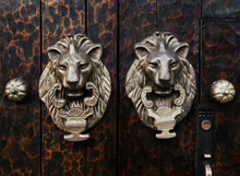 Antique Lion Door Knockers