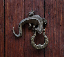 Antique Lizard Door Knocker Santa Marta, Colombia