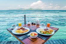 Breakfast With A Look At The Ocean Of La Digue Seychelles