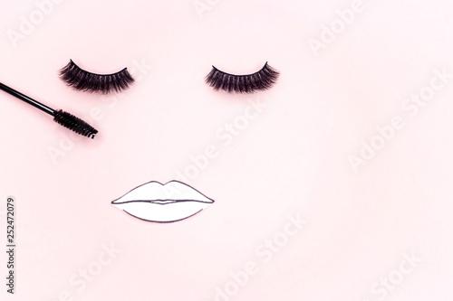 Materials for eyelash extension Canvas Print