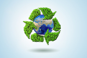 Fototapeta Do biura Concept of recycling - 3d rendering