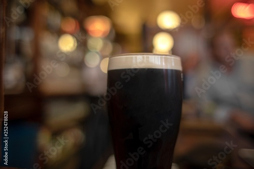 Fototapeta A traditional Irish stout