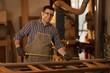Wood craftsman at work