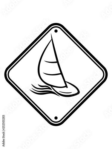 Fotografía  zone hobby gebiet schild vorsicht warnung gefahr achtung meer wellen boot segeln