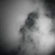 Clouds on Black Sky Background
