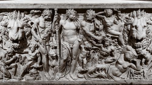 Ancient Greek bas-reliefs Canvas Print