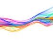 abstract eco fresh rainbow smoke flame over white background
