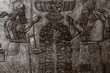 canvas print picture - Bas-reliefs with inscriptions of the ancient Sumerians