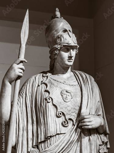 The statue of the ancient Greek goddess of wisdom, Athena Wallpaper Mural