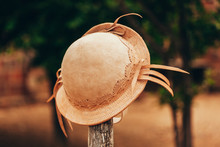 Typical Leather Hat Used By Co...