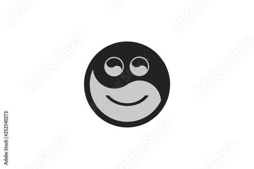 Fotografie, Obraz  Yin Yang Happy Emoji
