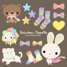 Rainbow Doodle Collection