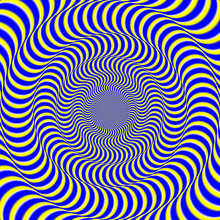 Psychedelic Optical Spin Illusion Background.