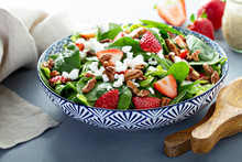 Fresh Strawberries, Spinach An...