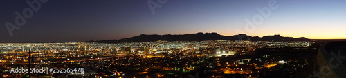 Canvas Prints Texas Panorama of City of El Paso in Texas Overlooking Neighborhoods and Mountain in Distance