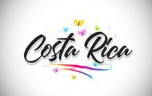 Costa Rica Handwritten Vector ...