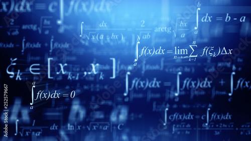 Math concept - Mathematical integral formulas Canvas Print