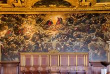 Doomsday Inside Doge's Palace In Venice