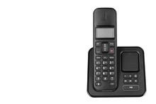 Modern Landline Cordless Phone, Old Technology Concept.