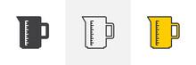 Measuring Cup Icon. Line, Glyp...