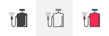 Pressure Sprayer Icon. Line, Glyph And Filled Outline Colorful Version, Fertilizer Sprayer Outline And Filled Vector Sign. Symbol, Logo Illustration. Different Style Icons Set. Pixel Perfect Vector