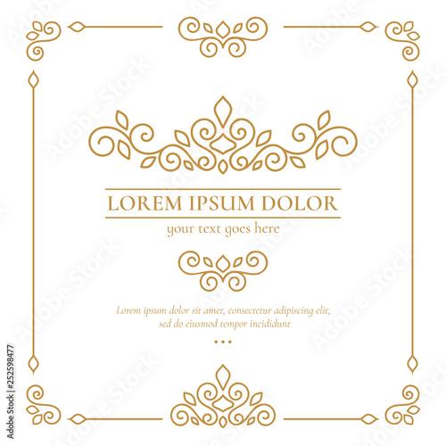 Golden vector emblem Canvas Print