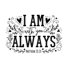 I Am With You Always. Religiou...