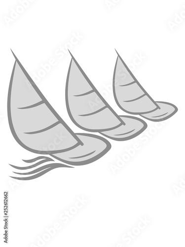 Fotografía  3 hobby segler team meer wellen boot segeln schiff segelboot wasser schwimmen ve