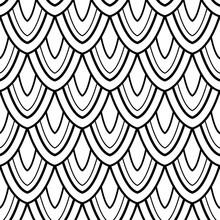 Monochrome Seamless Pattern With Natural Motifs