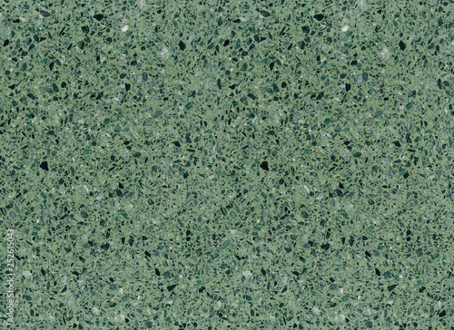 Green Mottled Terrazzo Floor Tile Surface Texture Background