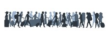 Travel People Silhouette. Fami...