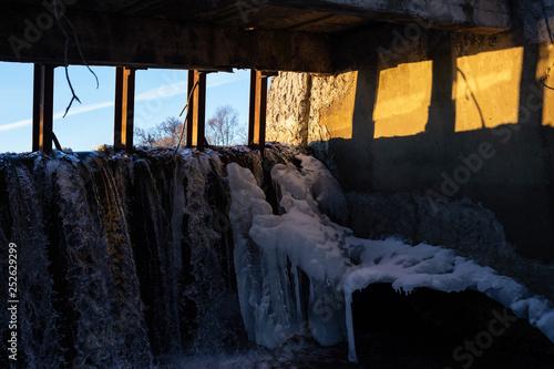 Printed kitchen splashbacks Watercolor Skull dam in winter