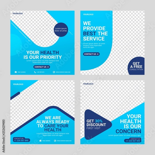 Obraz Healthcare post social media template - fototapety do salonu