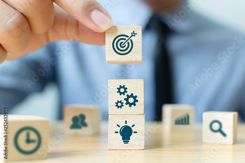 Fotomural  Concept of business strategy and action plan