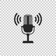 Microphone Icon Isolated On Tr...