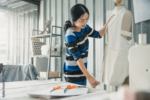 Young Female Fashion Designer Working On Her Designs In The Studio Fashion Designer Drawing Sketches For New Collection Beautiful Fashion Woman Designer Drawing In Studio Buy This Stock Photo And