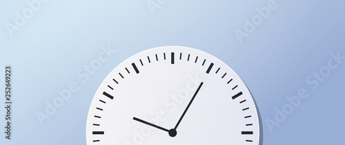 Fototapeta Time management deadline business timing concept circle clock icon horizontal ba
