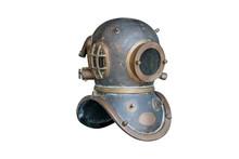 Retro Diving Helmet ,isolated ...